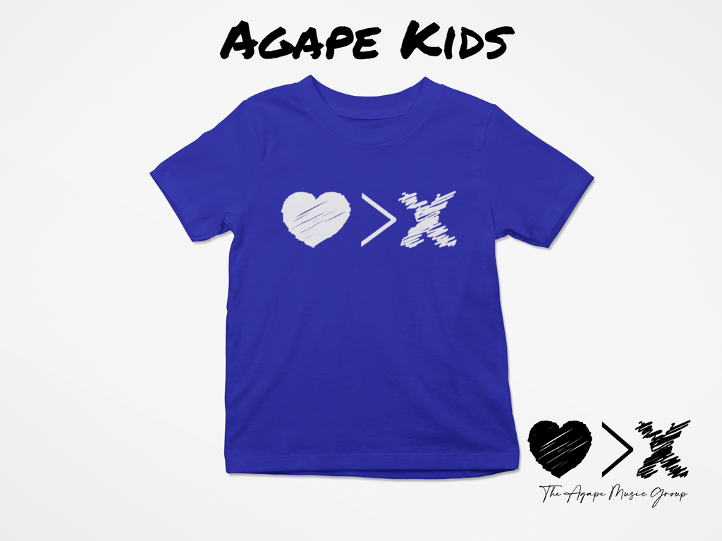Blue/White Logo T-shirt (Toddler and Youth)