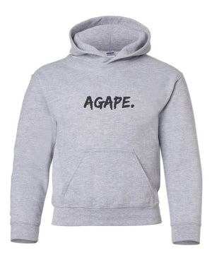 Grey/Black Agape hoodie (Toddler and Youth)