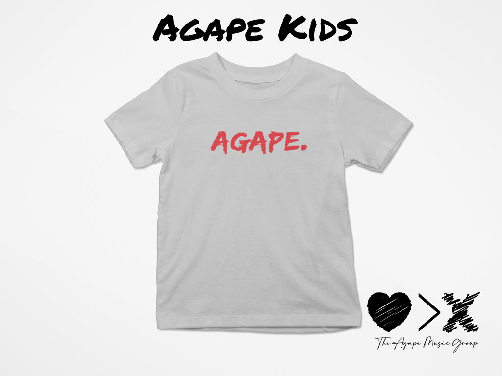 Grey/Red Agape T-shirt (Toddler and Youth)