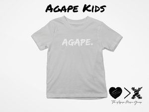 Grey/White Agape T-shirt (Toddler and Youth)