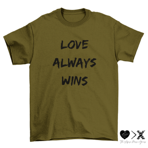 Love Always Wins. Short sleeve t-shirt (multiple colors)