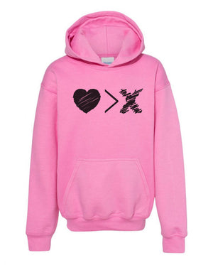 Pink/Black Logo hoodie (Toddler and Youth)