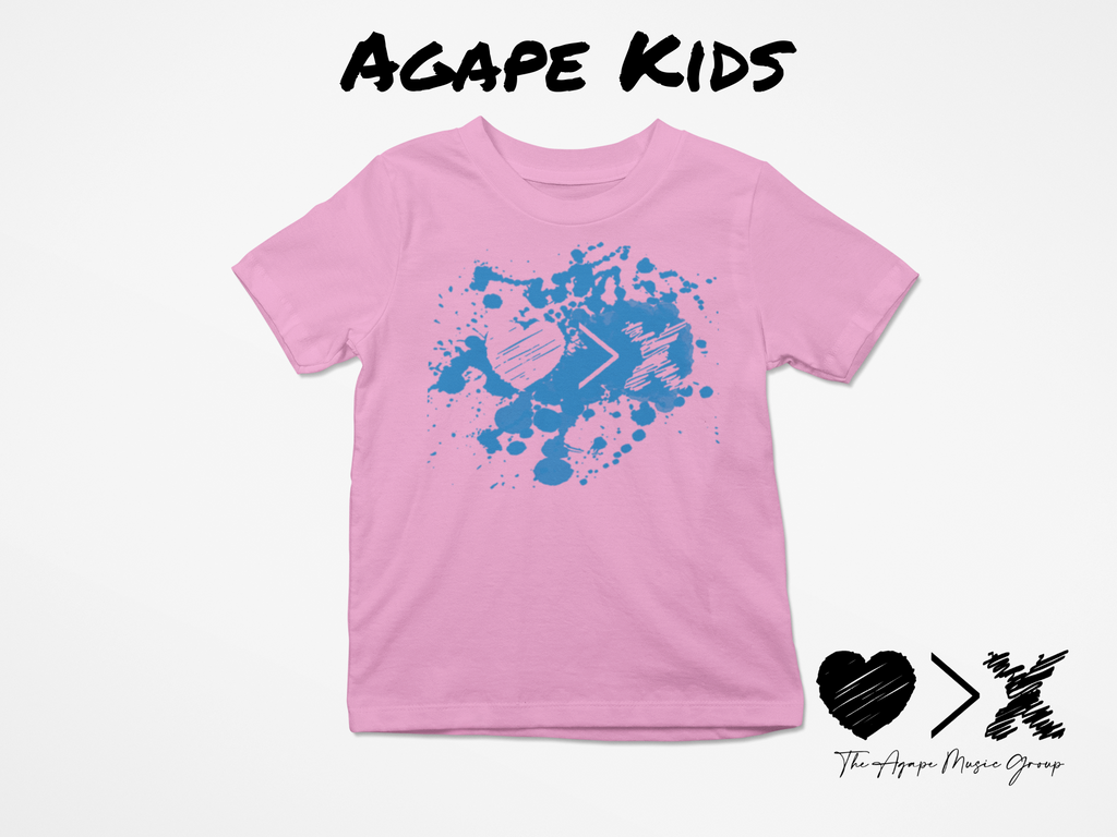 Pink/Blue Paint Splash Logo T-shirt (Toddler and Youth)