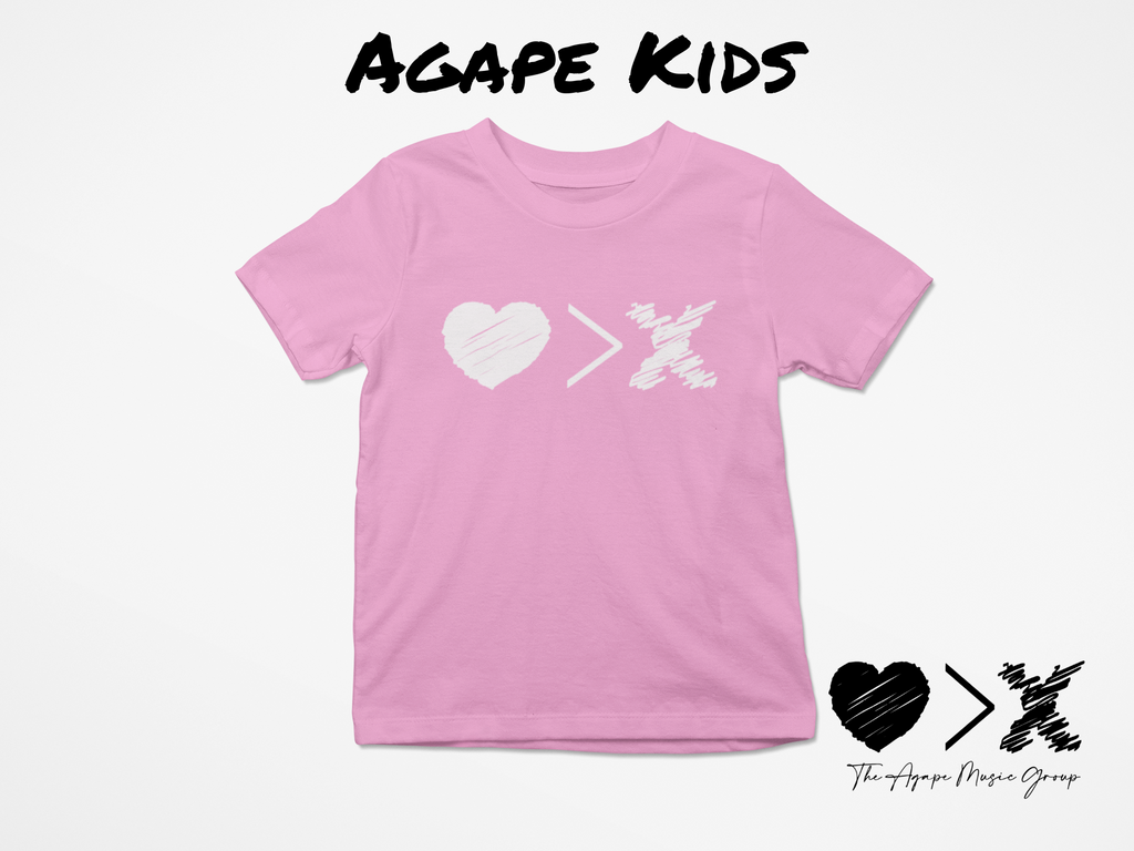 Pink/White Logo T-shirt (Toddler and Youth)