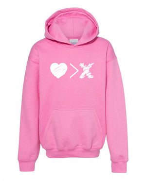 Pink/White Logo hoodie (Toddler and Youth)