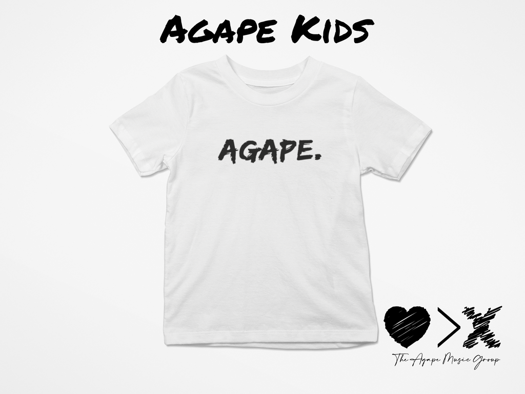 White/Black Agape T-shirt (Toddler and Youth)