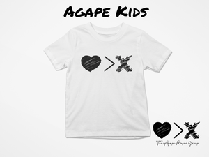 White/Black Logo T-shirt (Toddler and Youth)