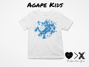 White/Blue Paint Splash Logo T-shirt (Toddler and Youth)