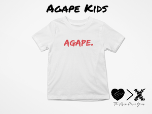 White/Red Agape T-shirt (Toddler and Youth)