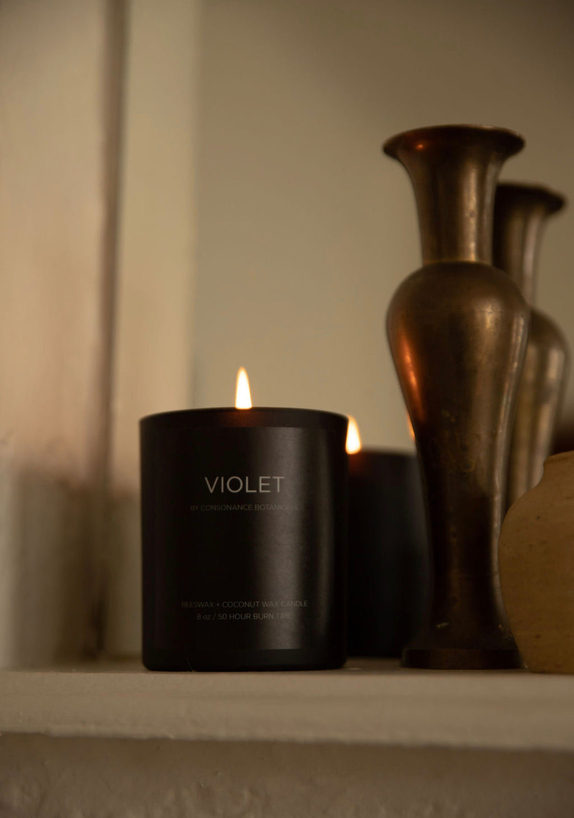 VIOLET candle - ships in January