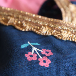 Blue and Pink Peplum Sharara - Nimbu Kids
