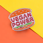 Pins Vintage Burger Vegan - Pins Burger King Meme - Pins détournement humoristique