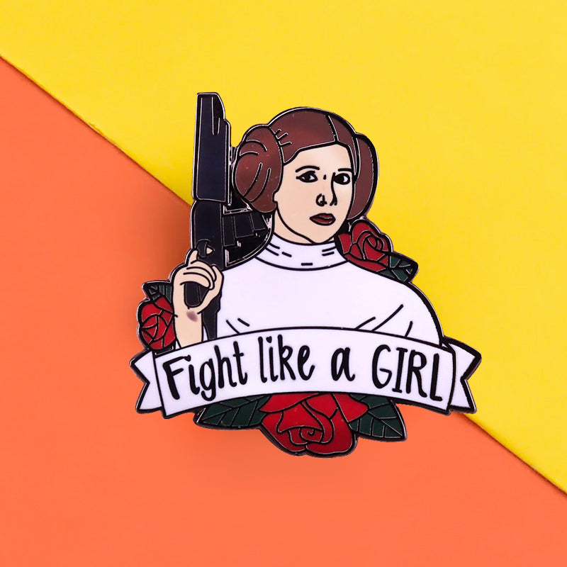 Pins Star Wars - Pins Princesse Leia - Fight like a girl - Féministe