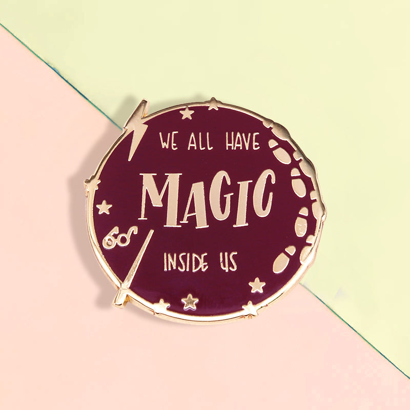 Insigne Harry Potter Pin's Harry Potter Badge Baguettes Magiques