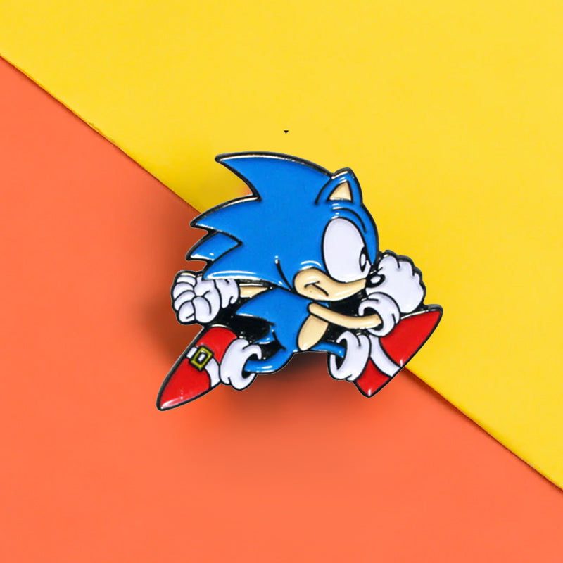 Pins Vintage Jeu Video - Pins Sonic
