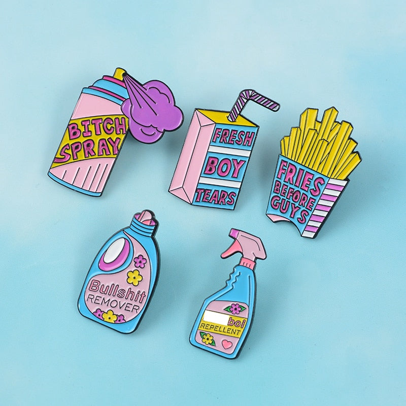 Collection de Pin's Féministes - Pins Message - Girl Power !
