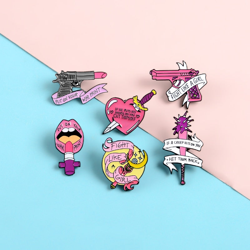 Pins Girl Power - Insigne Pin's Féministe