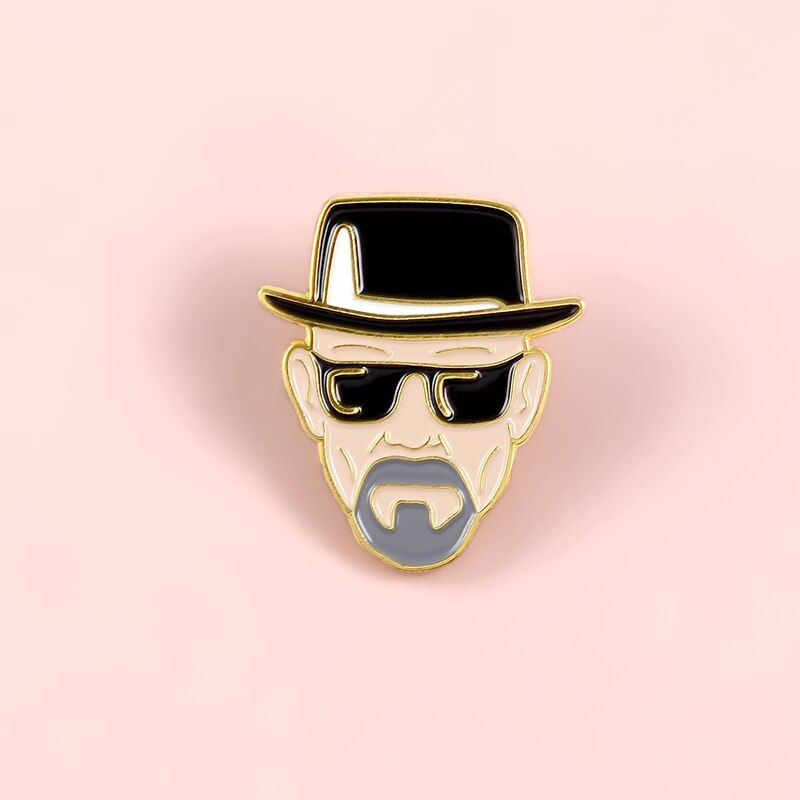 Pins Breaking Bad Walter White - Badge Pins Heseinberg - Pins Série TV