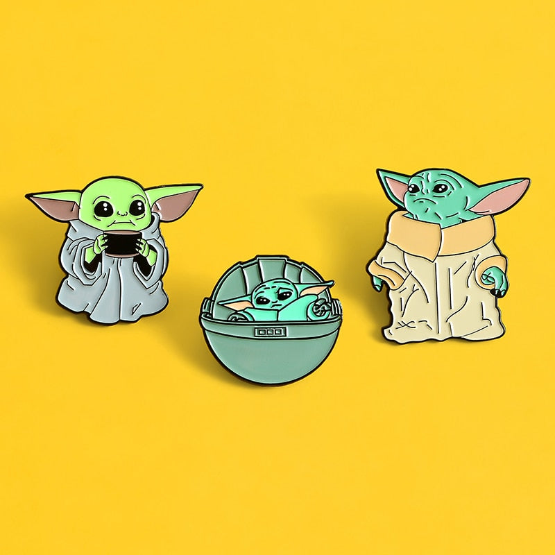 Pins Star Wars Baby Yoda - Pins Geek Bébé Yoda - Pins Mode Cool
