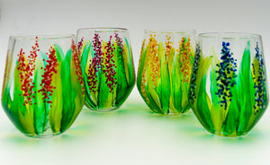 Flower Wineglass