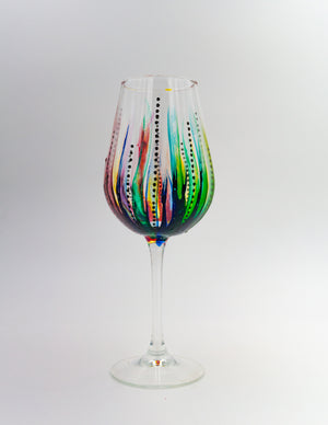 Abstract Wineglass