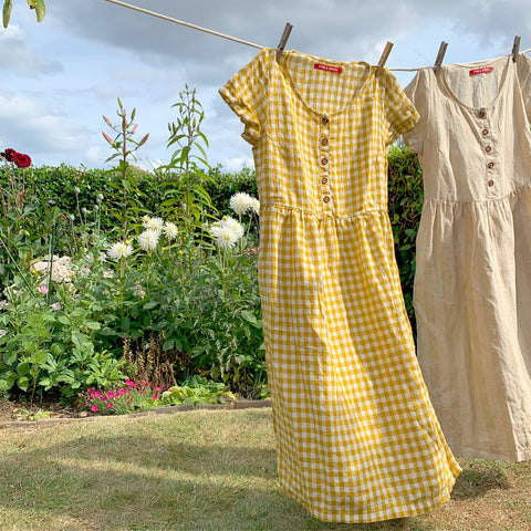 Air drying linen dresses with Pyne & Smith