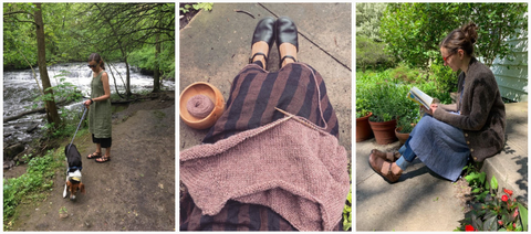 How yoga and meditation instructor Amy Jo wears her Pyne & Smith Linen Dresses