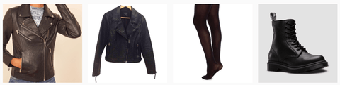 How to style the grey linen swingy dress with black boots and motorcycle jacket