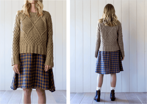 Styling the Pyne & Smith linen swingy dress with a sweater