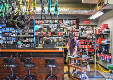 Path Bike shop service department.