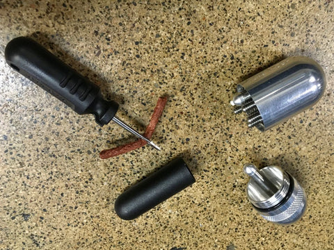 Carry a plug kit to fit holes in. your tires that tubeless tire sealant can't fill.