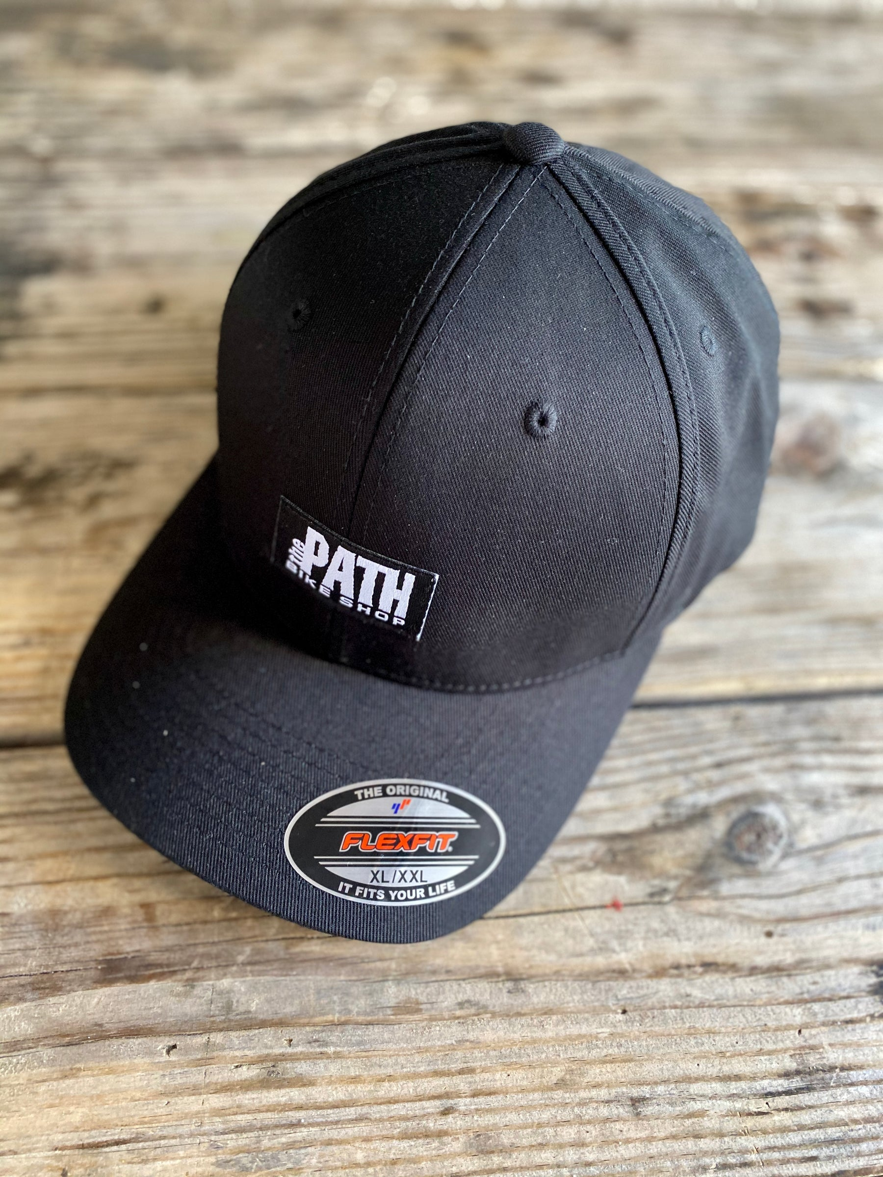 path bike shop logo flex fit hat