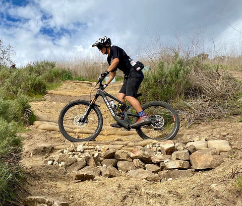 Keep your pedals parallel to the ground when not pedaling your mountain bike.