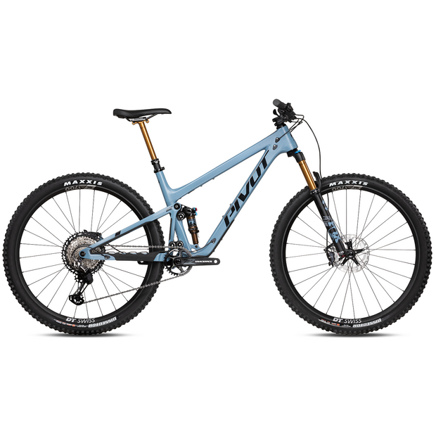 2021 Pivot Trail 429 V3 Pro XT w/ Carbon Wheels pacific blue full view
