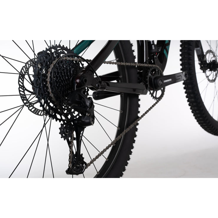 "2021 Norco Fluid FS 3 29"" red/green drivetrain view"