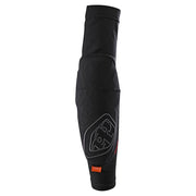 Troy Lee Designs Stage Elbow Guard black front view