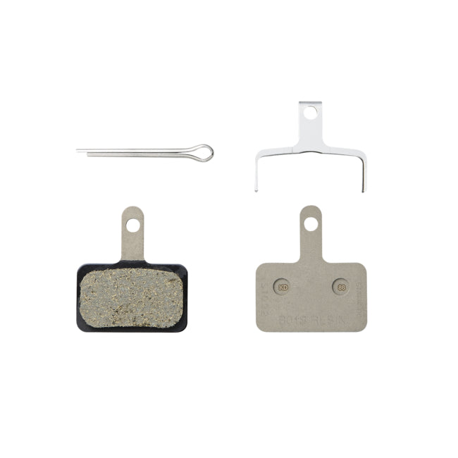 Shimano B01S Resin Brake Pad, Pad Springs, W/3 Types of Split Pin, (Pair) Full View