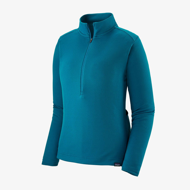 Patagonia Women's Capilene Midweight Bike Jersey steller blue front view