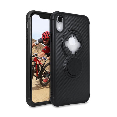 Rokform Crystal iPhone XR carbon black case full view