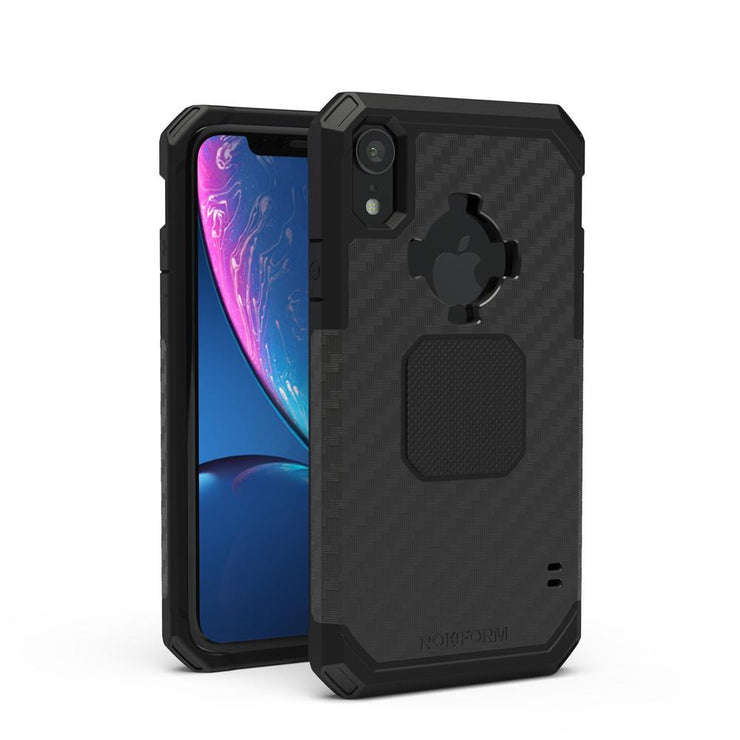 Rokform iPhone XR Rugged Black full view