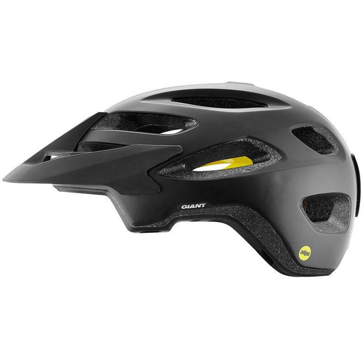 Giant Roost Helmets with Mips black full view