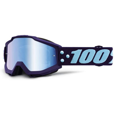 100% Goggles Accuri Maneuver Mirror Blue Lens full view