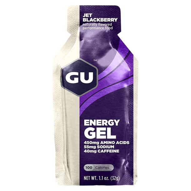 GU Energy Gel Jet Blackberry full view