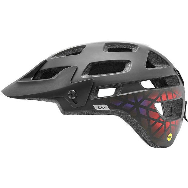 Liv Infinita SX helmets with Mips black/gradient red full view