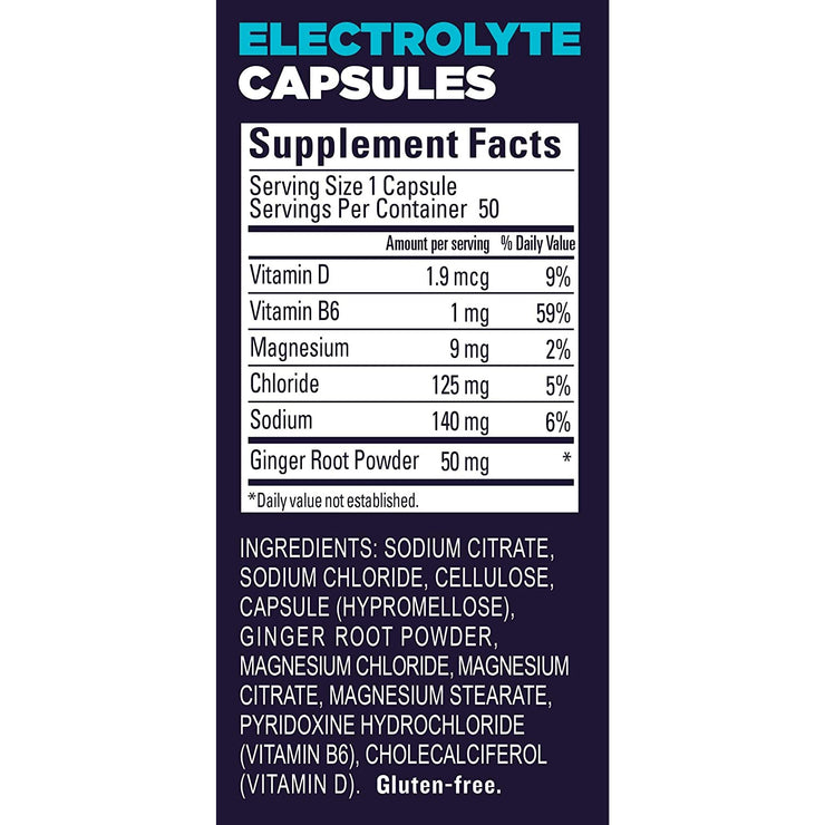 Gu Roctane Electrolyte Capsules supplement/ingredients view