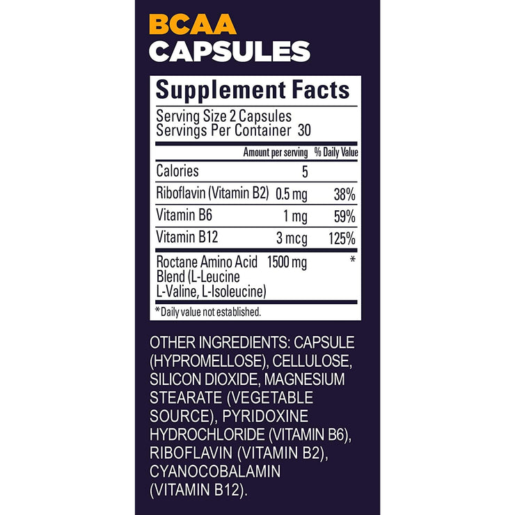 GU BCAA Capsules - 60 Count Supplement/Ingredients view