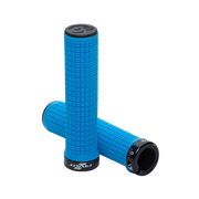 Pivot Phoenix Lock-On Grips blue full view