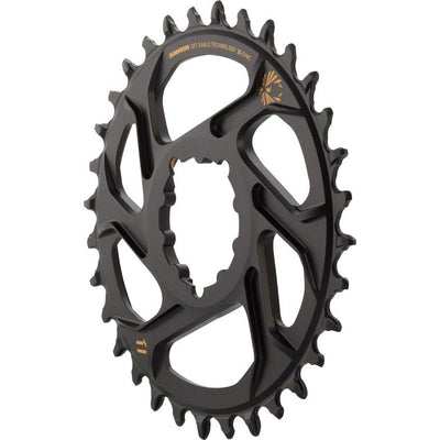 SRAM X-Sync 2 Eagle Direct Mount Chainring 32T Boost 3mm Offset with Gold Logo, Full View