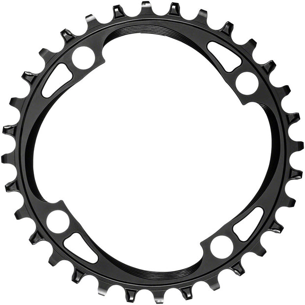 absoluteBLACK Round 104 BCD Chainring - 32t, 104 BCD, 4-Bolt, Narrow-Wide, Black, Full View