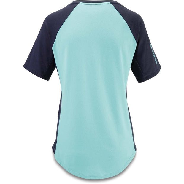 Dakine Women's Xena Mountain Bike Jersey Nile Blue back view
